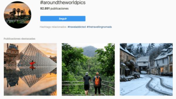 hashtags de viajes