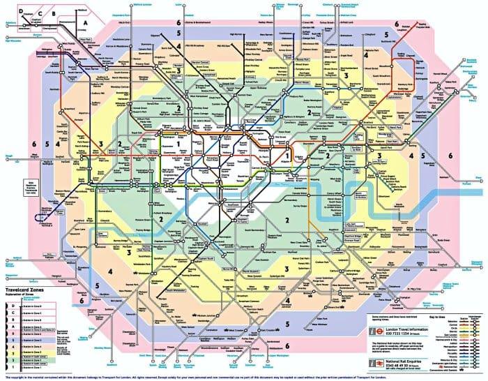 mapa de londres metro