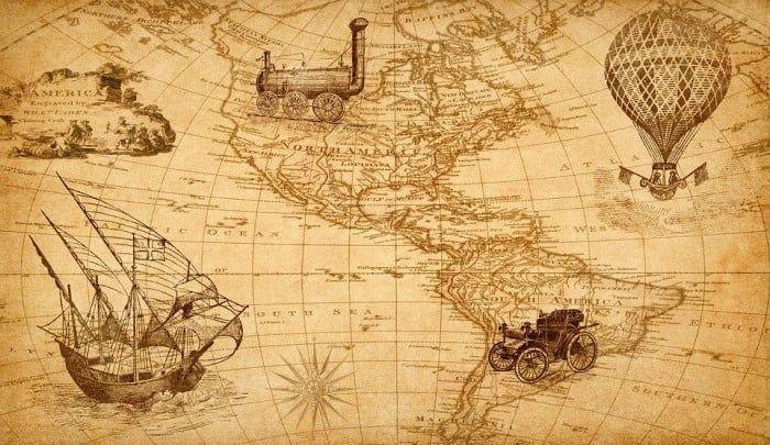 mapa descubrimiento de america