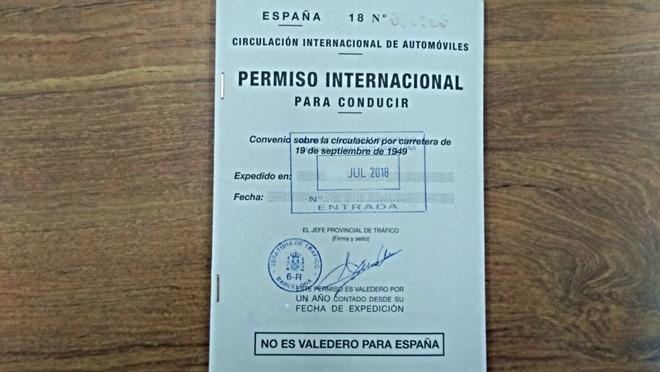 permiso conducir internacional